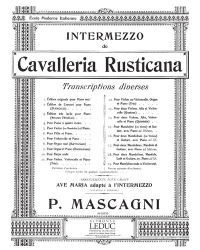 "Intermezzo (de ""Cavalleria Rusticana"")"