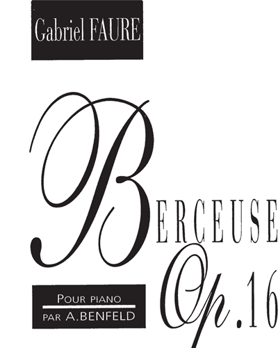 Berceuse Op. 16 pour Piano