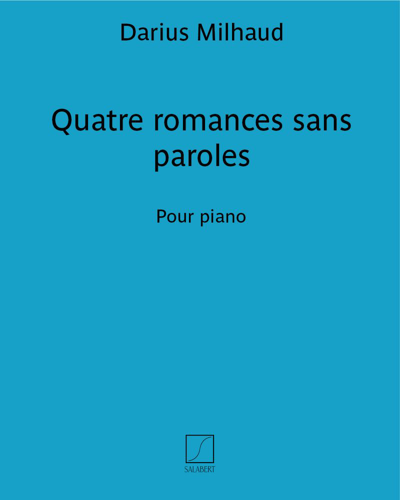Quatre romances sans paroles