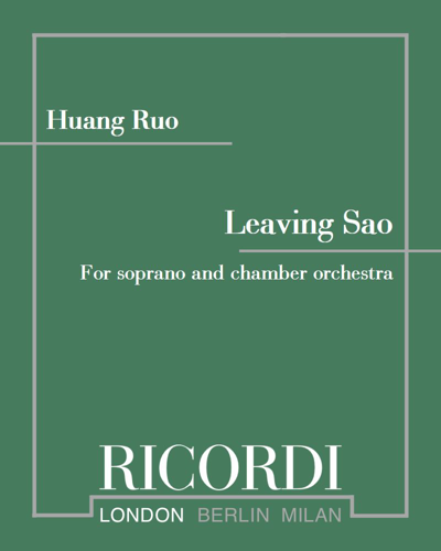 Leaving Sao - For soprano and chamber orchestra