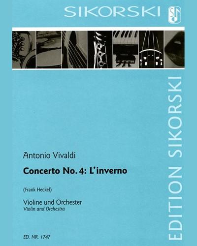Concerto No. 4: L'inverno